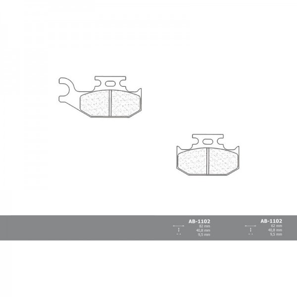 Vordere Bremsbeläge für Bombardier Traxter 4x4 Max 2002 -